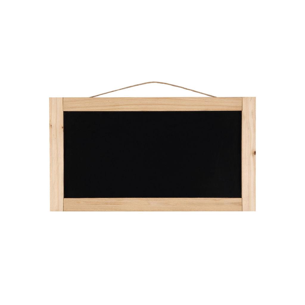 """18.1"""" x 10"""" x 0.6"""" Chalkboard with Pine Frame"""