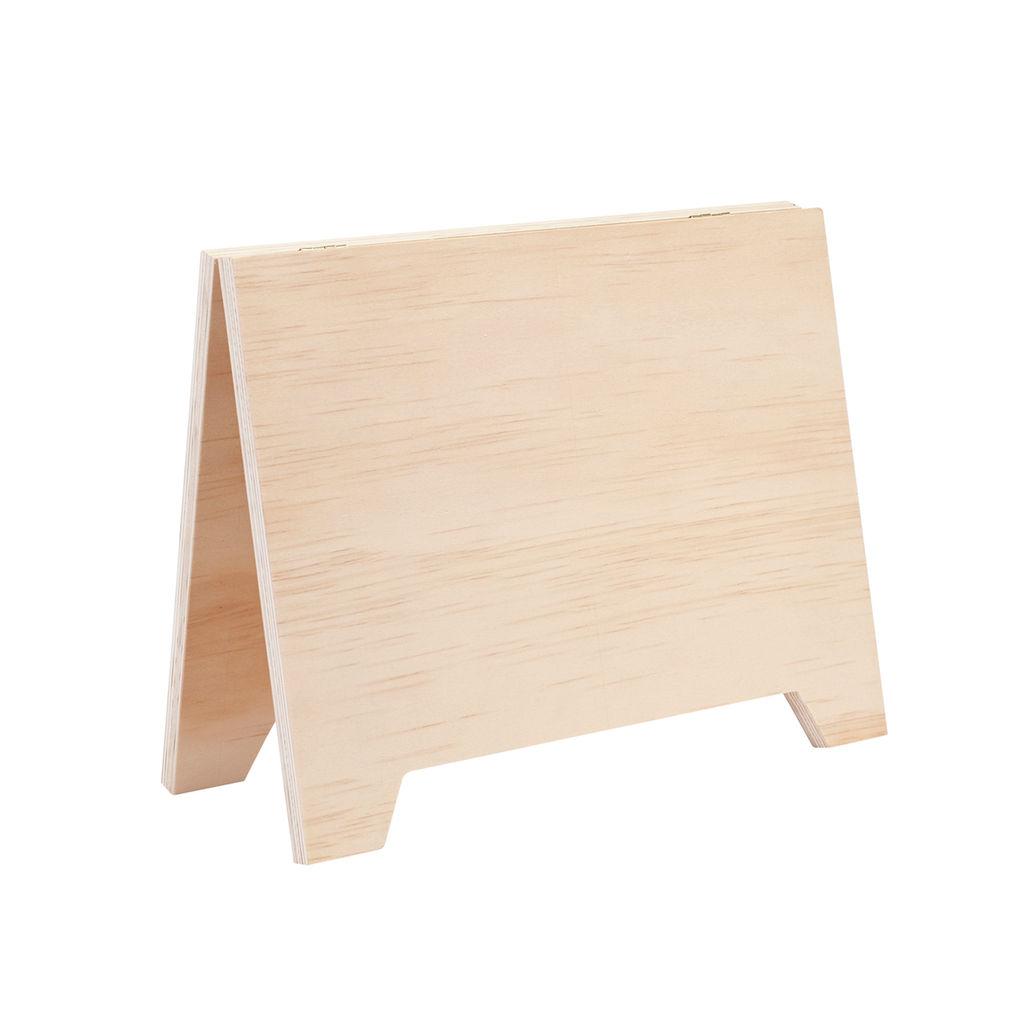 "10""x8""x3.5"" (open) Wood Tent Sign"