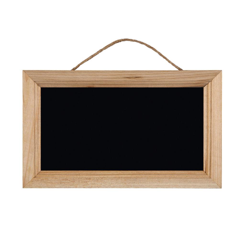 "9.1"" x 5.5"" x 0.4""Chalkboard with Cedar Frame"