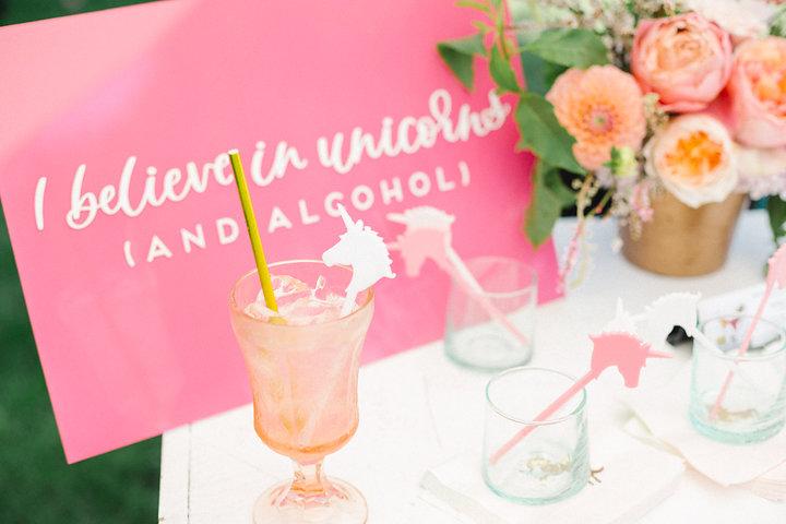 Bright Pink Unicorn Birthday Party