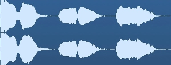 See how the waveform is maxed out on the left? That could sound distorted. The center and right levels are optimal.