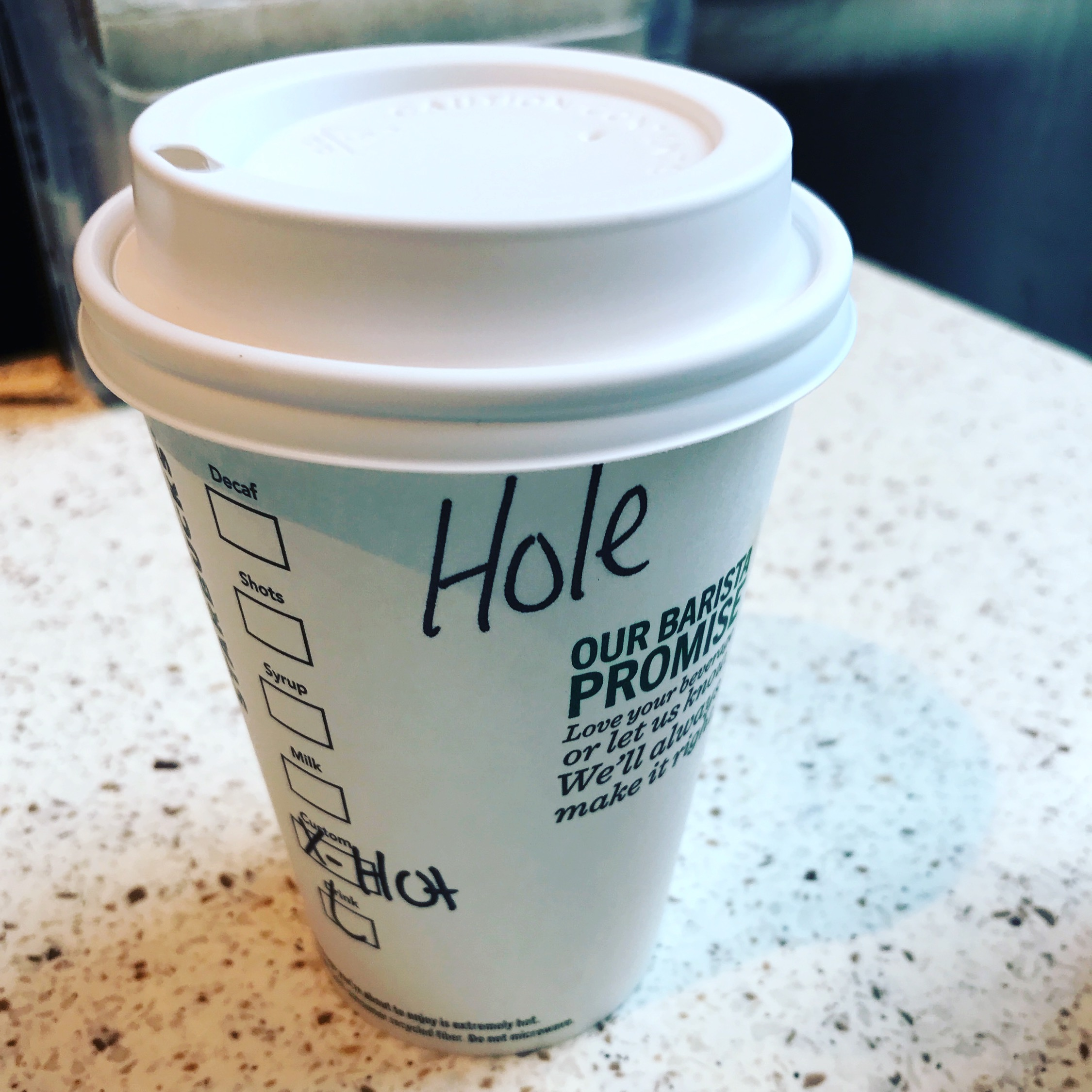 One time my friend Holly got her coffee like this. Totally off topic, but super funny.