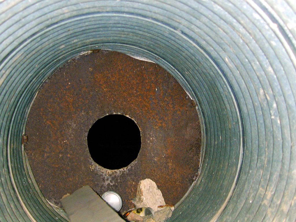 Flash picture of inside the pipe