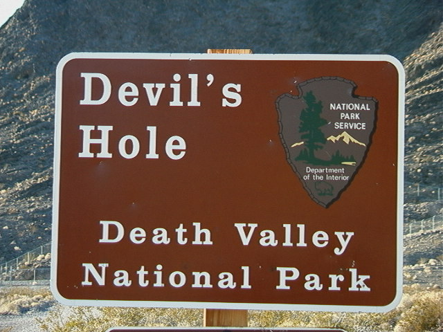Sign marking the location of Devil's Hole