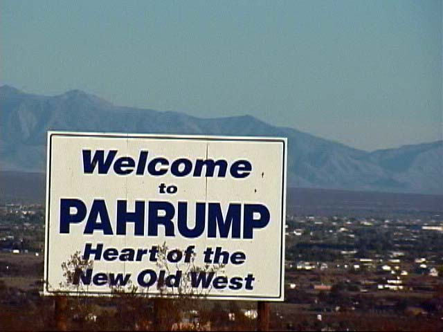 The return trip passed through Pahrump - heart of the new old west