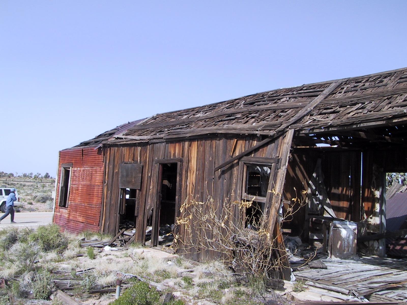 Cima General Store. It is in slight disrepair