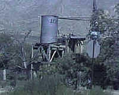 Old water tower in Goodsprings