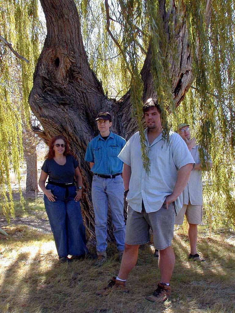 Maria, Joe, Mike, and Kendal at Corn Creek Field Station