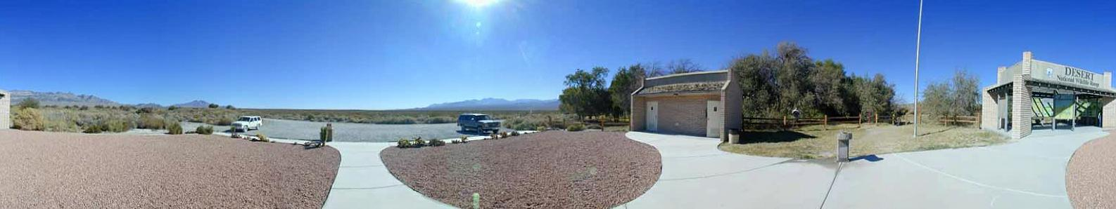 Panorama taken in front of the Corn Creek Field Station
