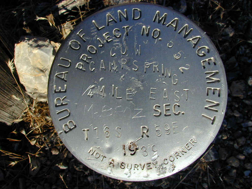 Bureau of Land Management Project No. 552 Cow Camp Spring