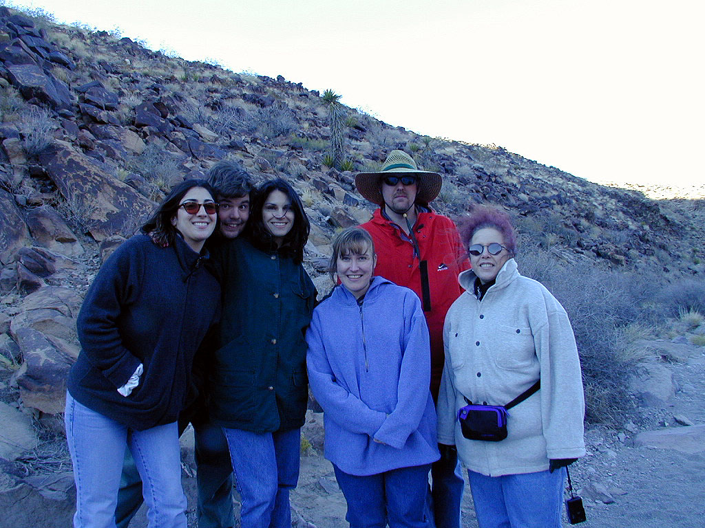 Renee, Mike, Nancy, Angie, Ted, and Maria. Petroglyphs are all over the place here.