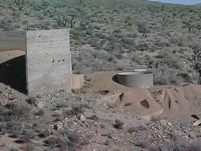 Ruins of mining facility