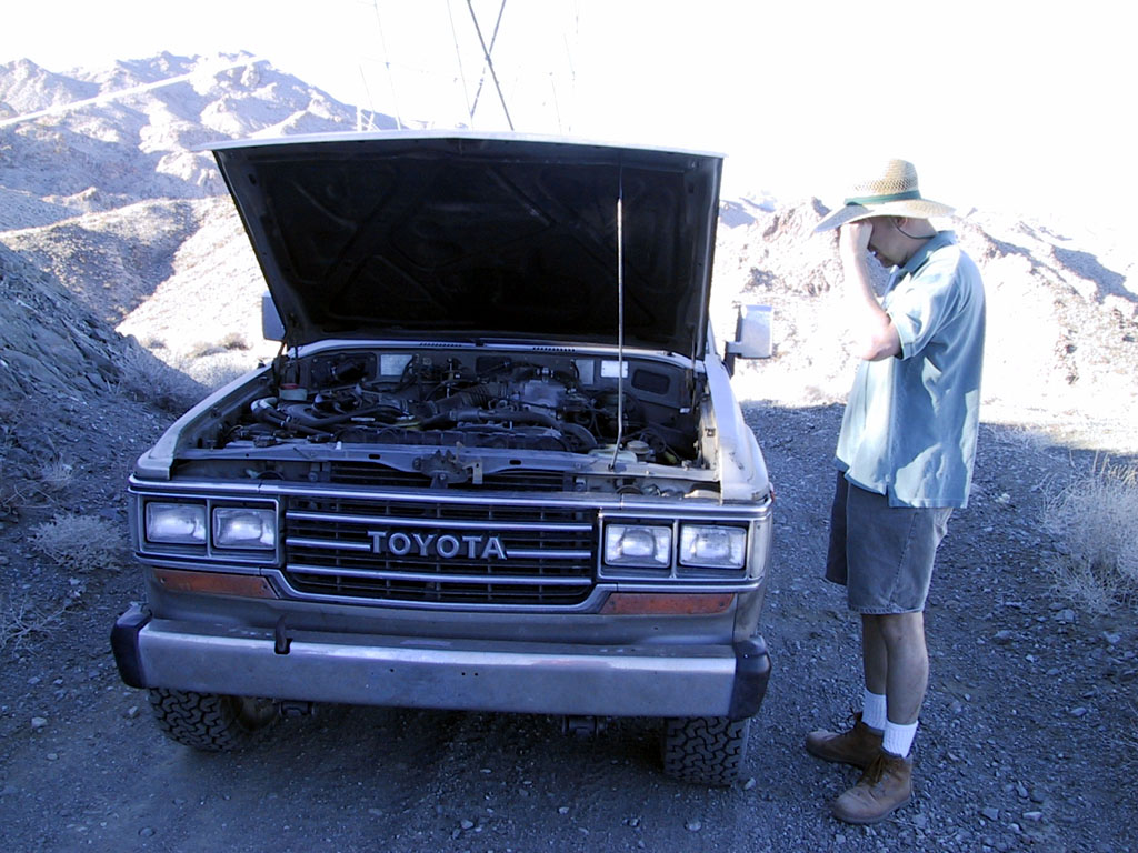 """""""Let me see... I know. It might be the brake fluid. I better check it."""""""