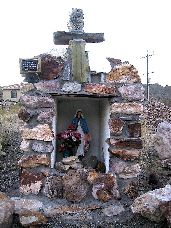 In memory of Clarabelle Douglas. Pioneer teacher of Nelson Nevada.