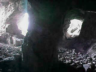 Honeycomb of tunnels with many exits.