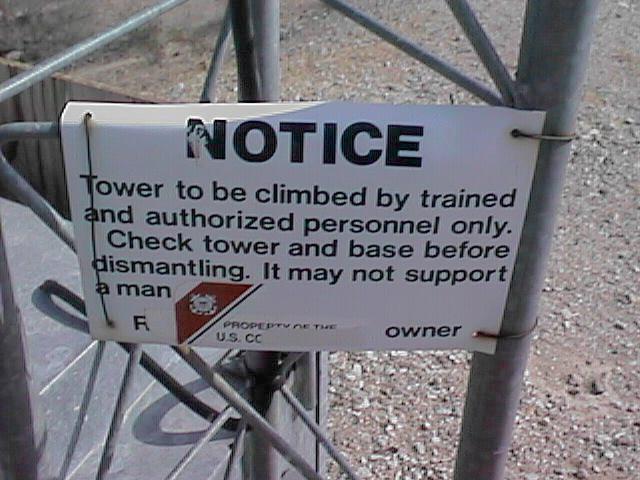 Warning notice.