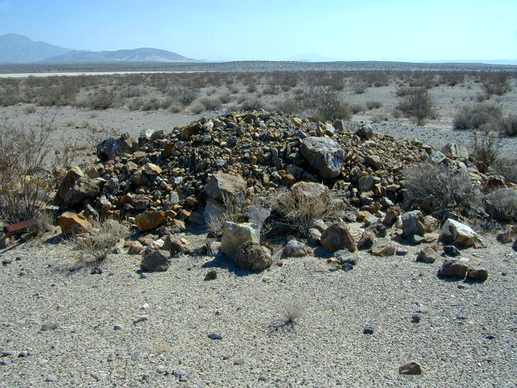 """This is a """"cairn"""". It looked just like a """"pile of rocks"""" to us, but Colin ensured us that it was a cairn."""