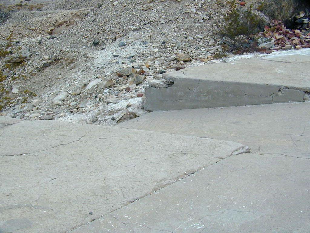 """Concrete """"ramps"""" for some unknown purpose"""