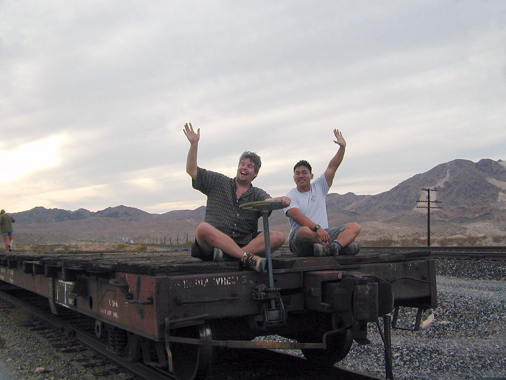 Mike and Hector release the brake and wave goodbye to everyone.