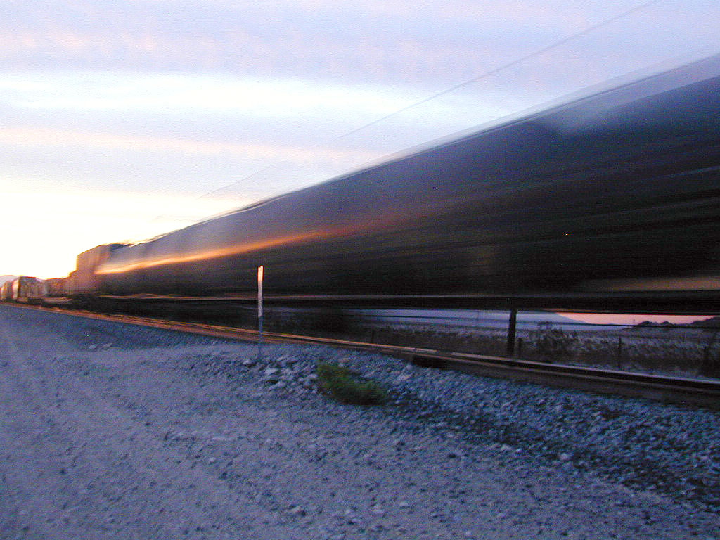 A train rushes past!