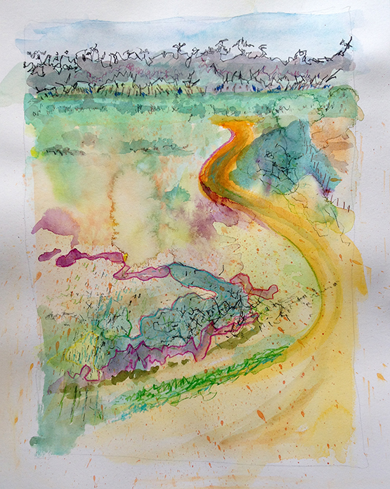 Willandra North. 2015 watercolour 30x22cm