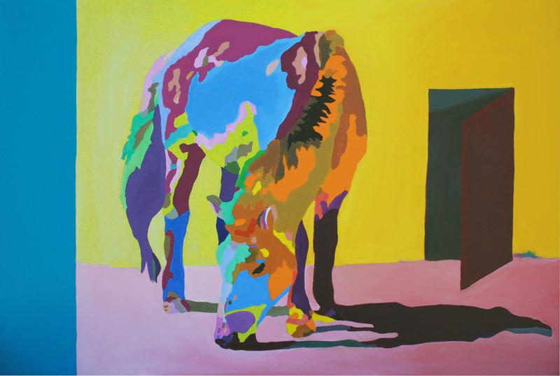 Jack Randell  Przewalski's Horse  2011 acrylic on board 40x60cm