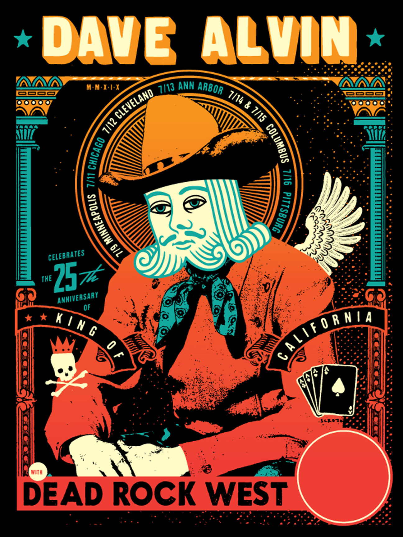 Copy of Dave Alvin Tour July 2019 - OFFICIAL POSTER