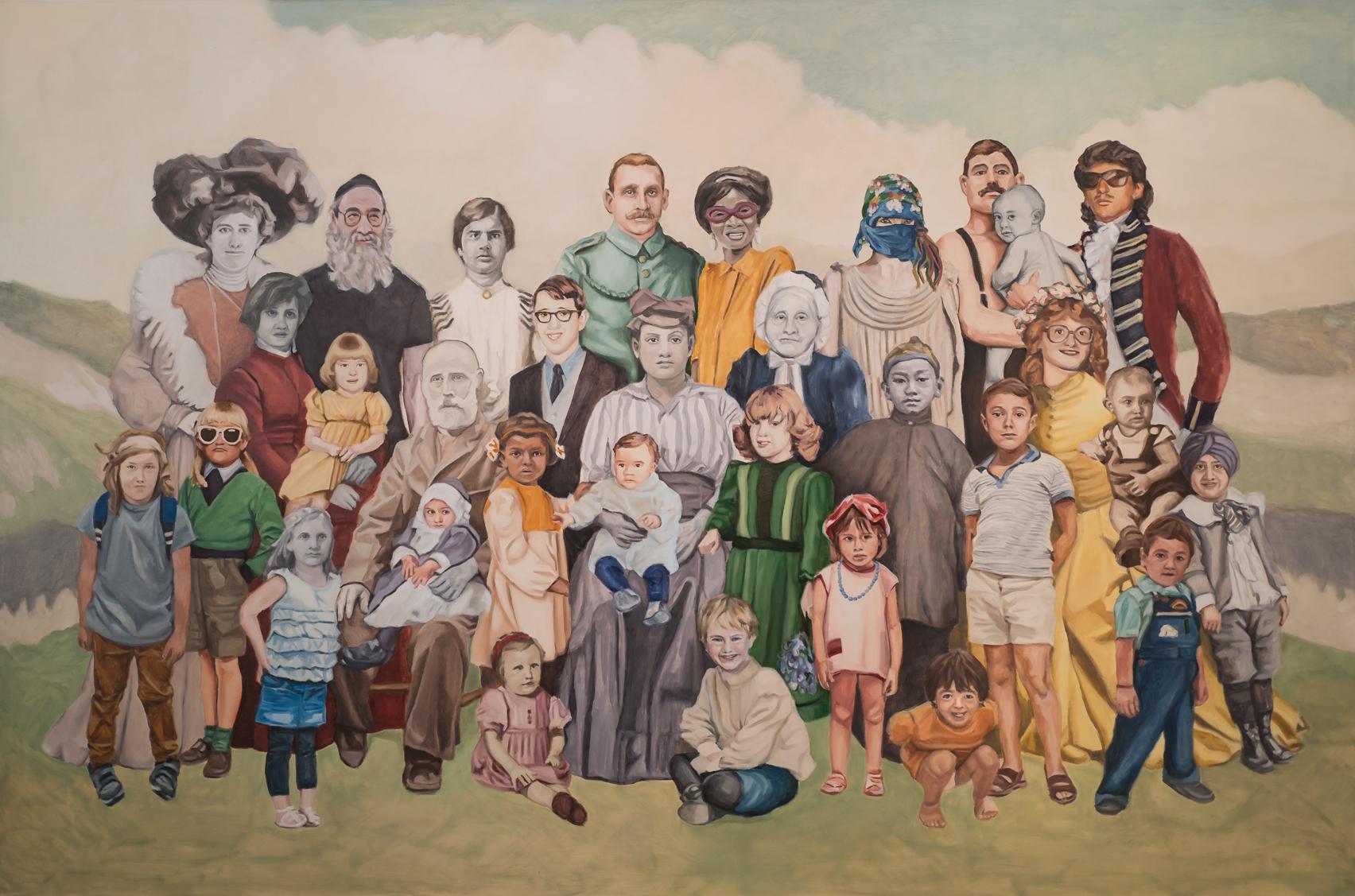 Ctrl X Ctrl V 2, 2016 Oil on canvas 195 x 130 cm