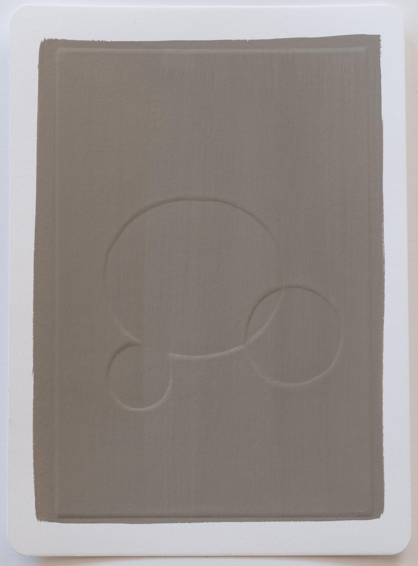 Disney , 2017 Gouache on dry embossed paper 18 x 25 cm