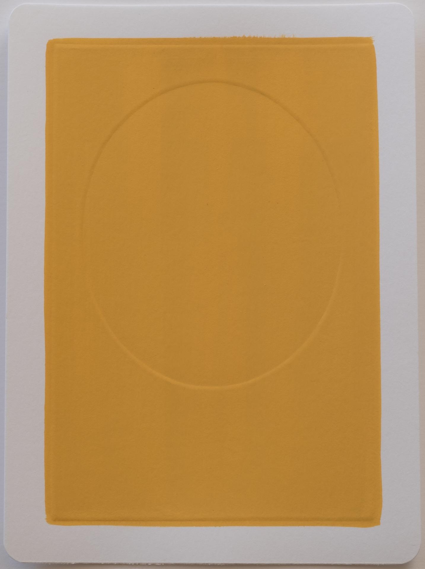 Dali , 2017 Gouache on dry embossed paper 18 x 25 cm