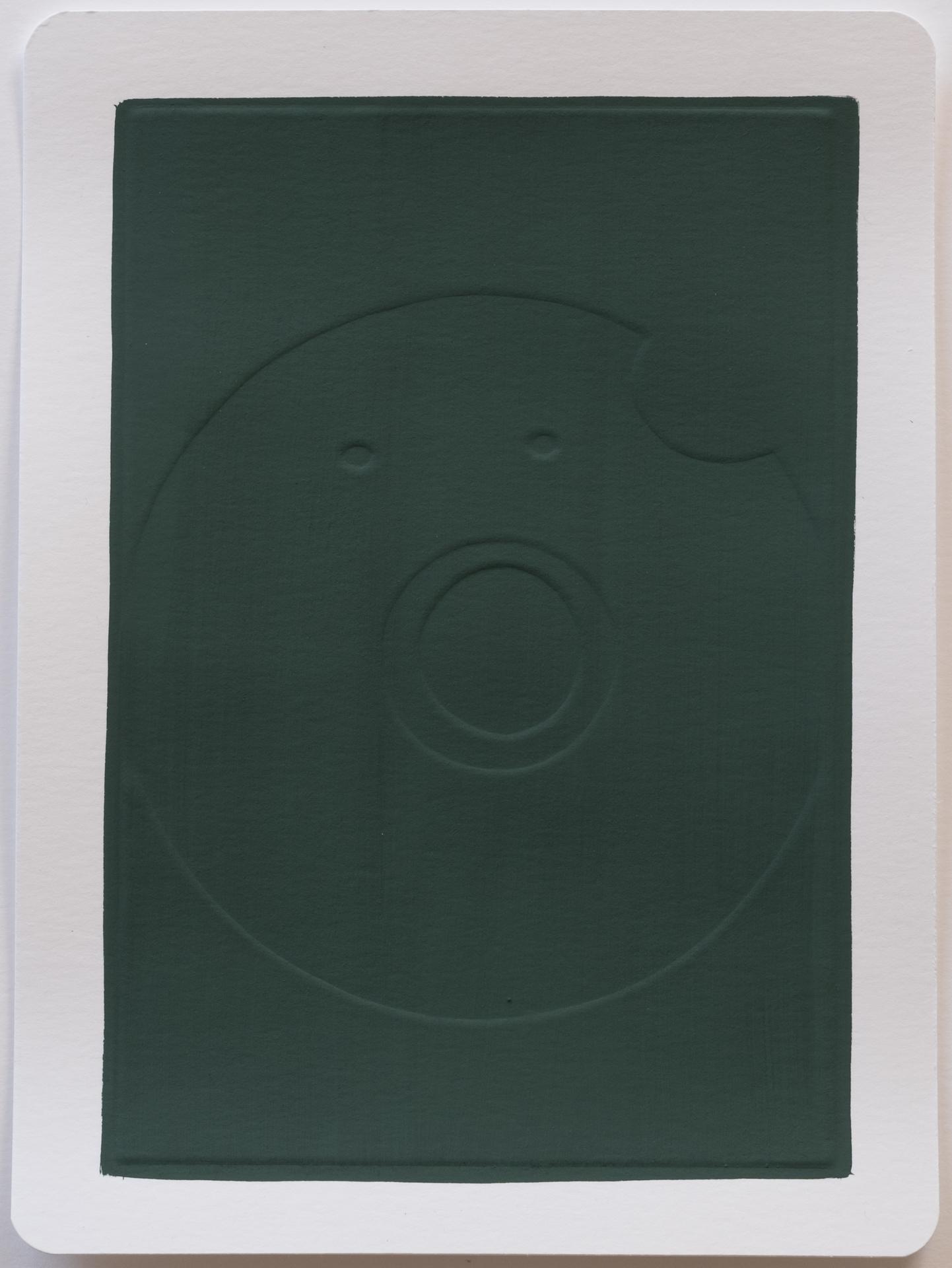 Munch , 2017 Gouache on dry embossed paper 18 x 25 cm