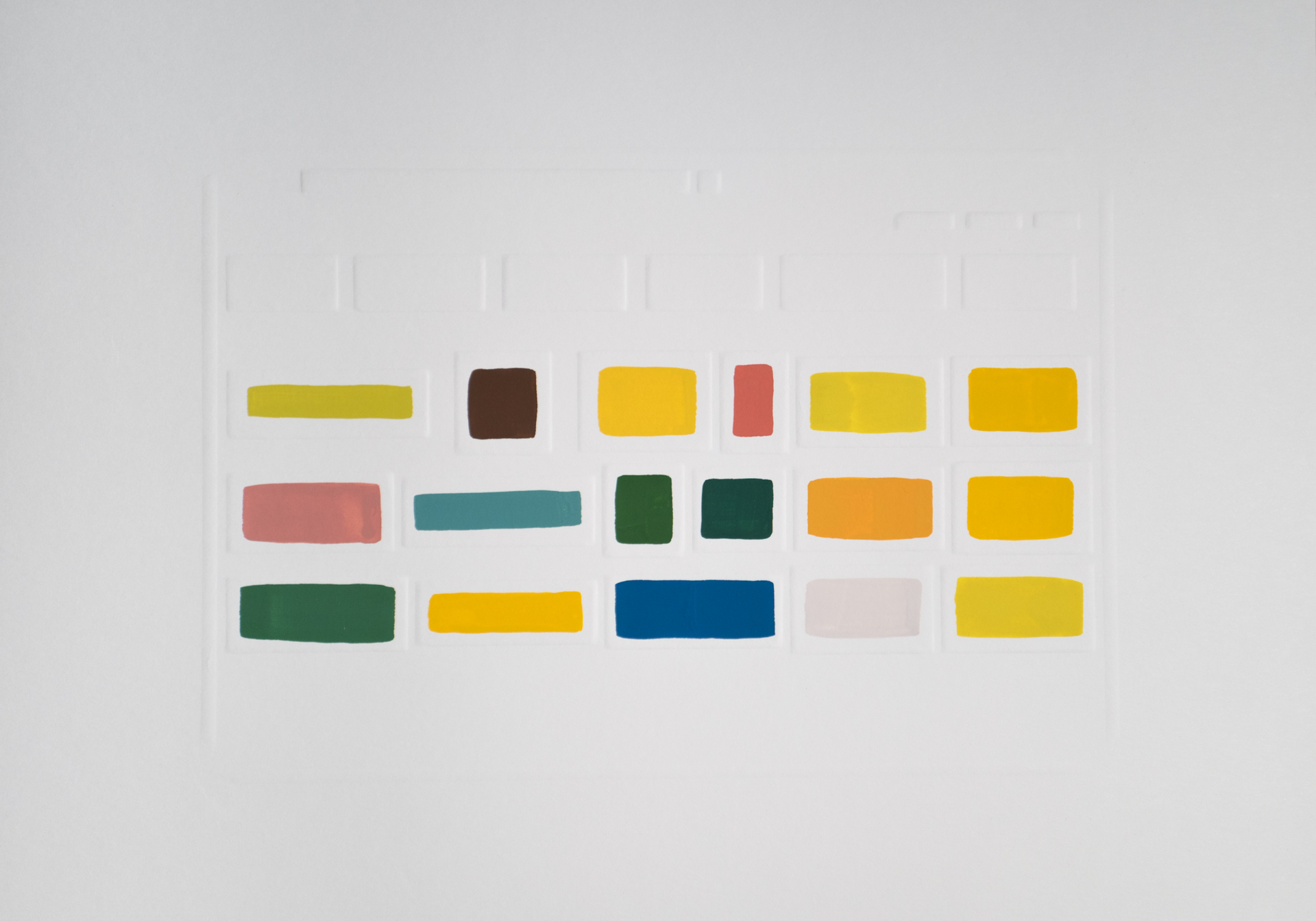 Pride,2017 Gouache on dry embossed paper 42 x 29,7 cm
