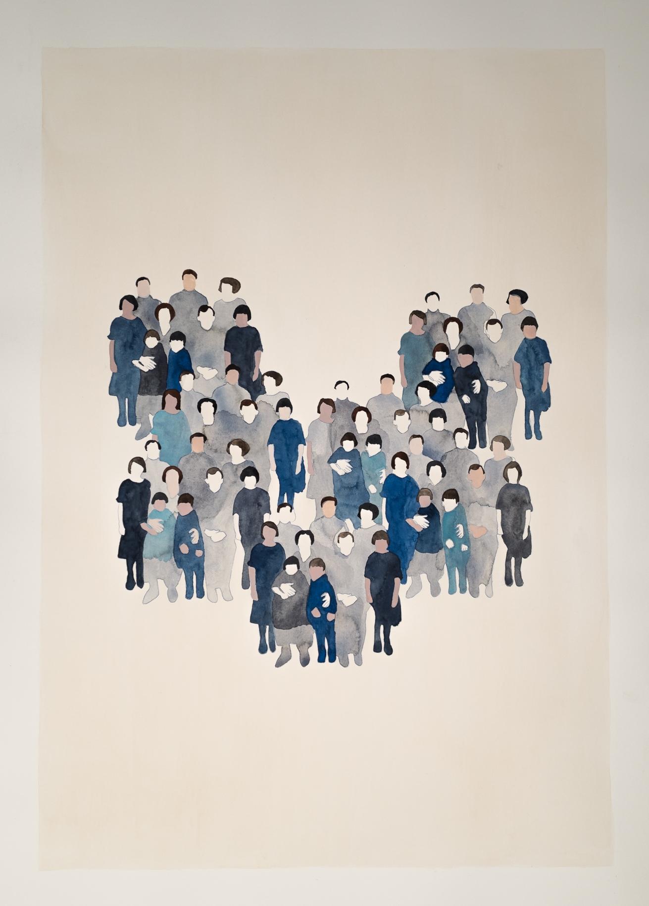 Generation n.1, 2015 Watercolour on paper 70 x 100 cm