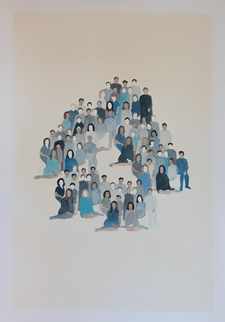 Generation n.2, 2015 Watercolour on paper 70 x 100 cm