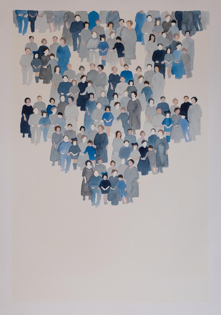 Generation n.3, 2015 Watercolour on paper 70 x 100 cm