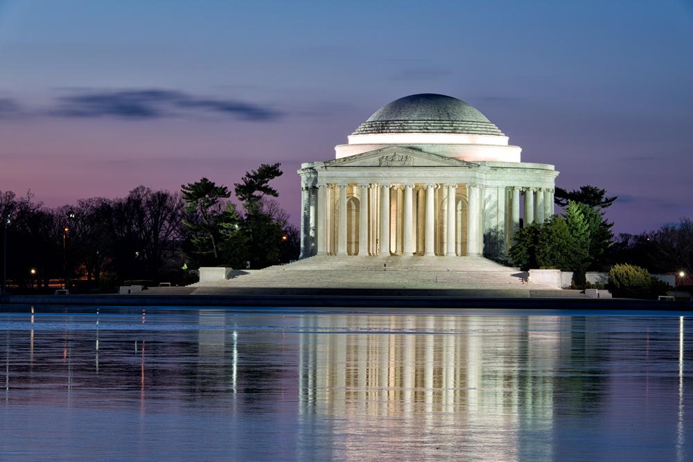 Jefferson Memorial, January Morning