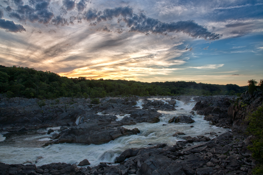 Great Falls Summer Sunset