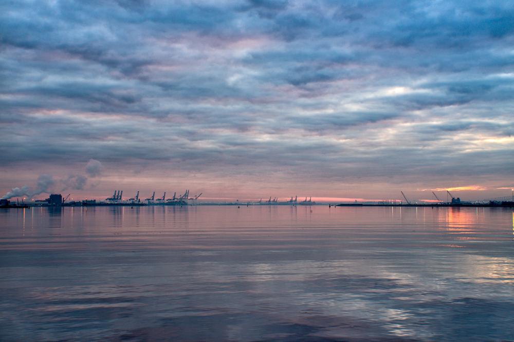 Baltimore Harbor, January Morning