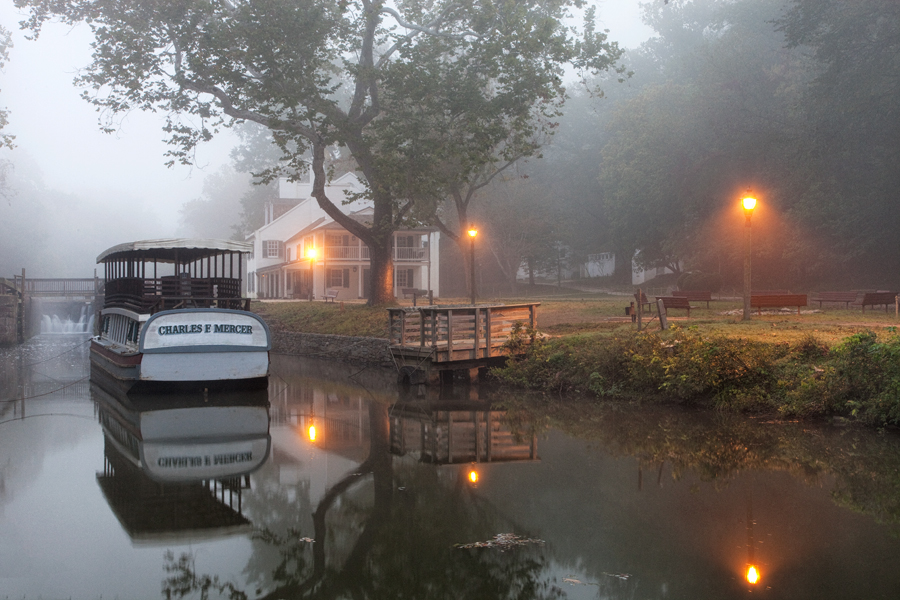 Great Falls Tavern, November Morning