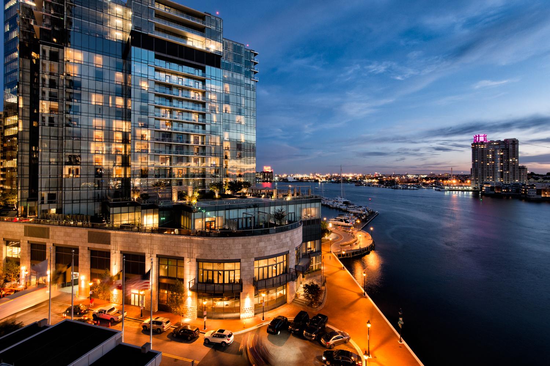 Baltimore Harbor, October Evening