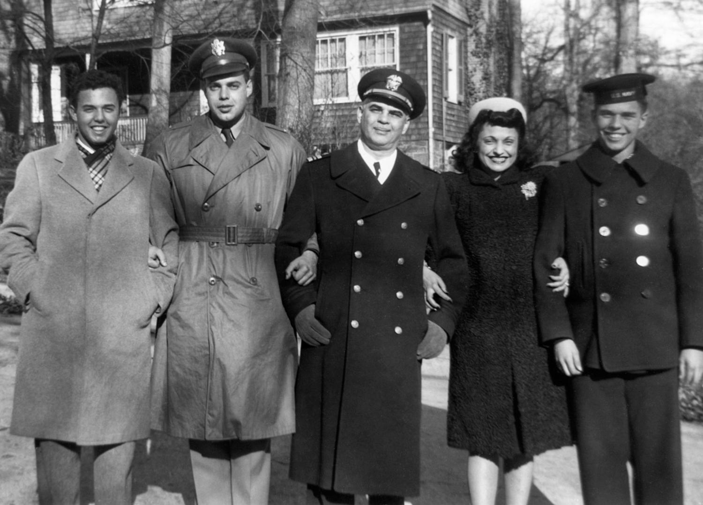 Dick, Doug, Harry, Kathryn and Buddy, 1944