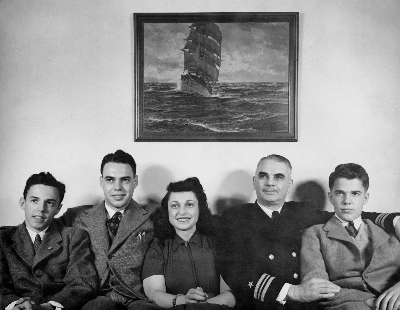 Richard, Doug, Kathryn, Harry, Buddy, 1942