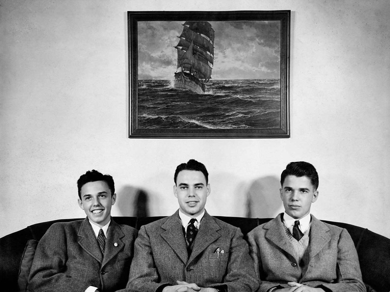 Richard, Doug and Buddy, 1942