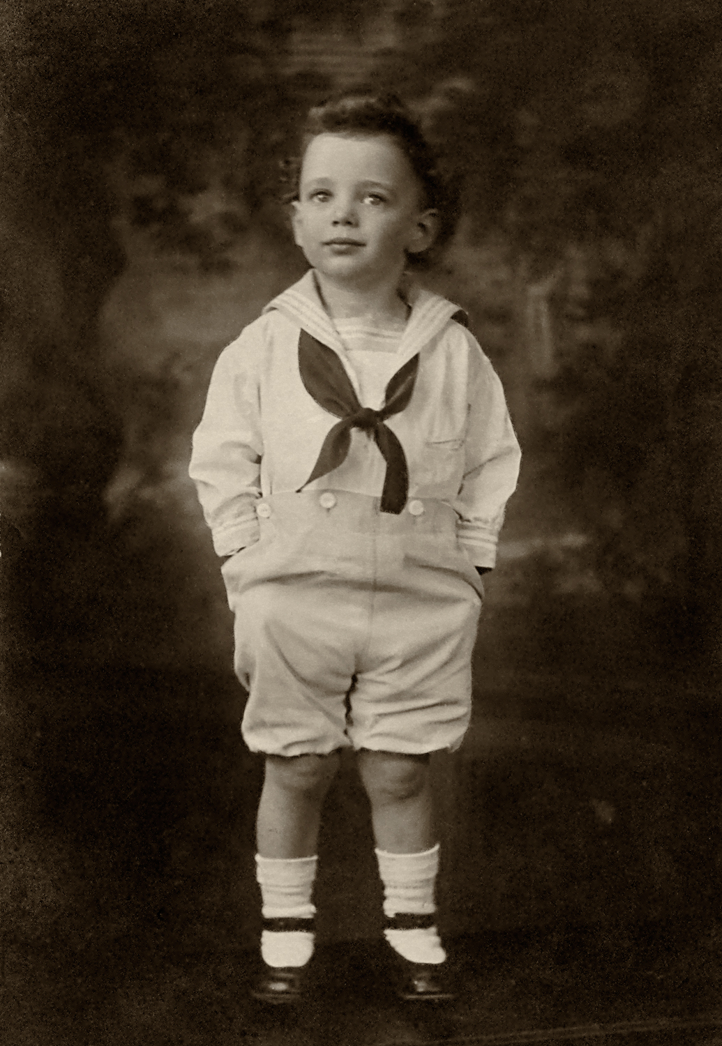 Douglas Goodwin in one of his many sailor suits