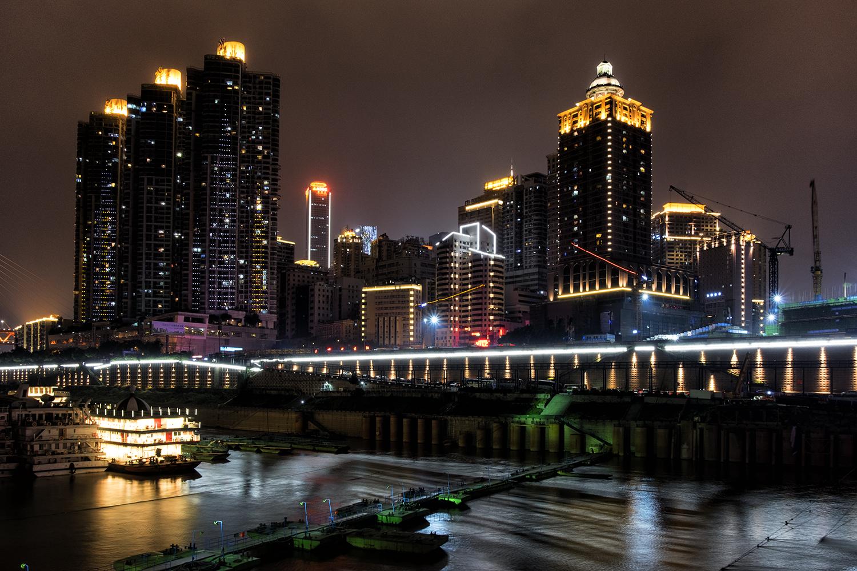 March Evening Along the Yangtze in Chongquing, China