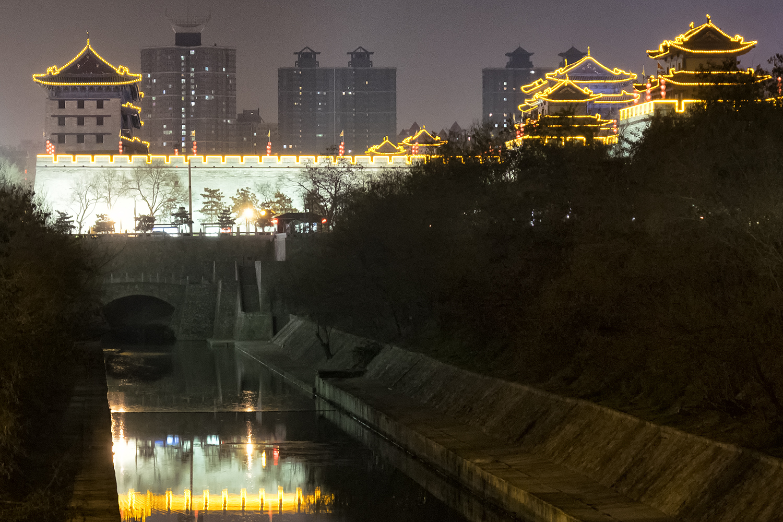 Xi'an City Walls at Night