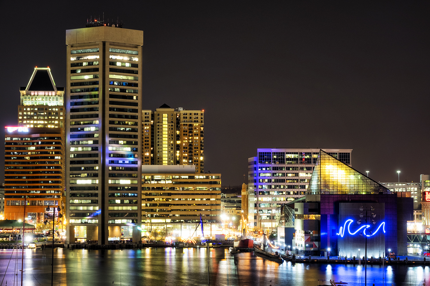 Baltimore Harbor, March Evening