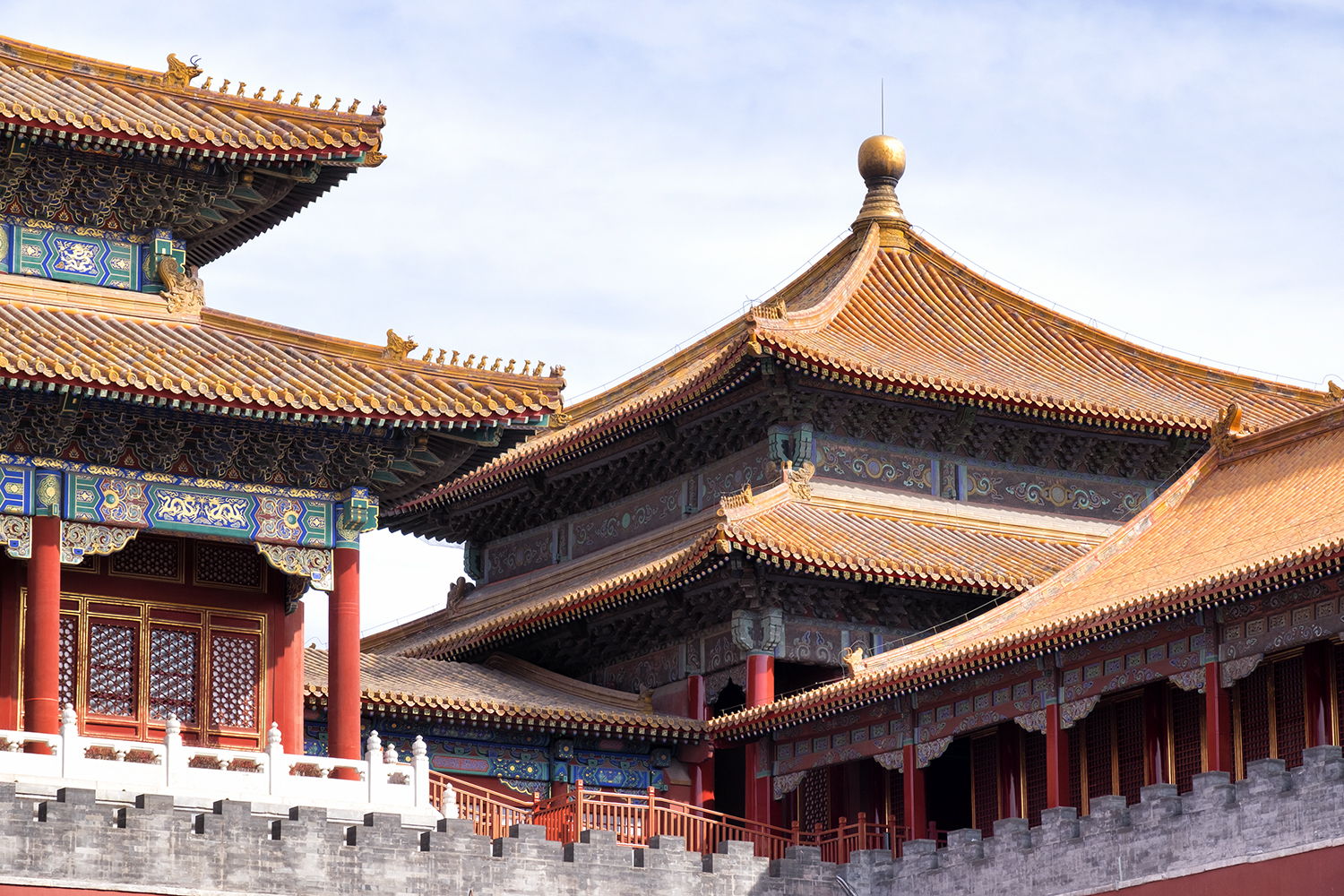 The Meridian Gate, in the Forbidden City