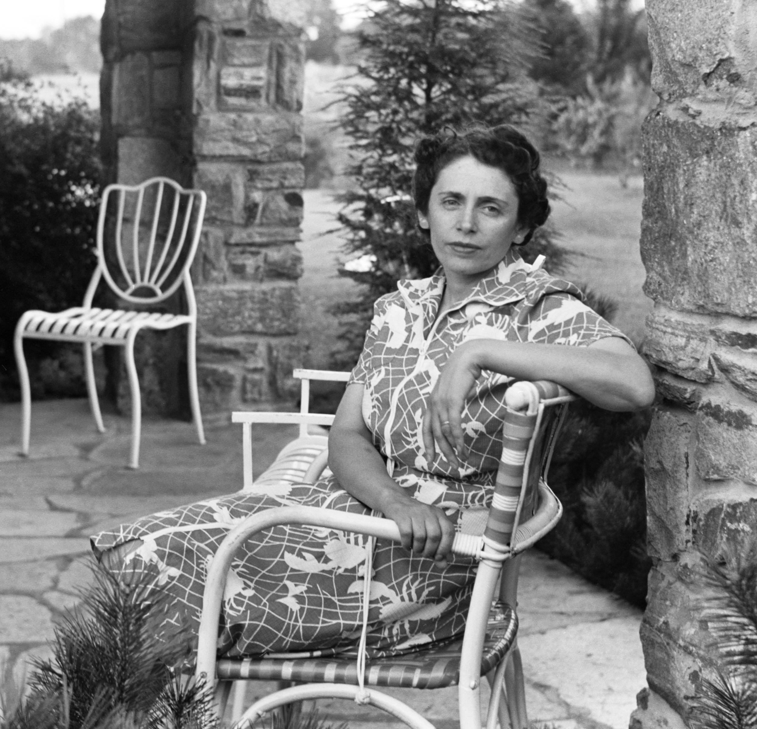 Sylvia Adalman at the house on Bonfield Road.
