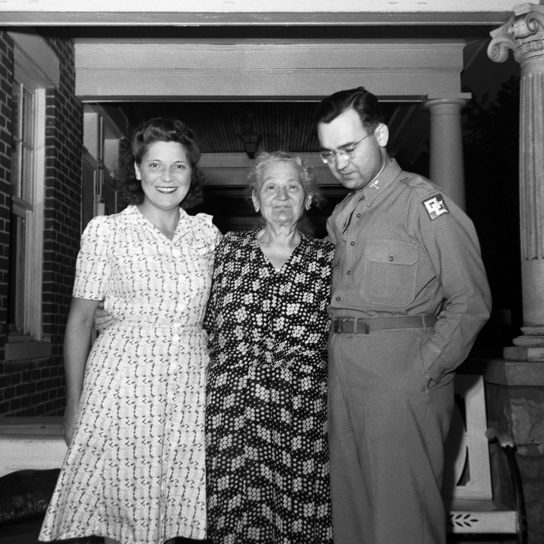 Sylvia, Dora and Philip Adalman
